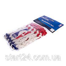 Сетка баскетбольная SPALDING 8219SCNR (полиэстер, 12 петель, цвет бело-красно-синий, в компл. 1шт, вес 220гр), фото 3