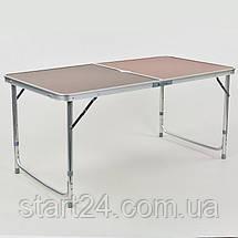 Набор для пикника (стол+4стула) 8278 (р-р стола 60х120см, металл, ламин.ДСП), фото 3
