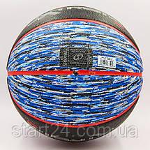 М'яч баскетбольний гумовий №7 SPALDING 83501Z NBA Extreme SGT (гума, бутил, чорний-синій), фото 3