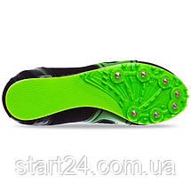 Шиповки беговые Shenya 848-3 размер 35-45 черный-салатовый, фото 2