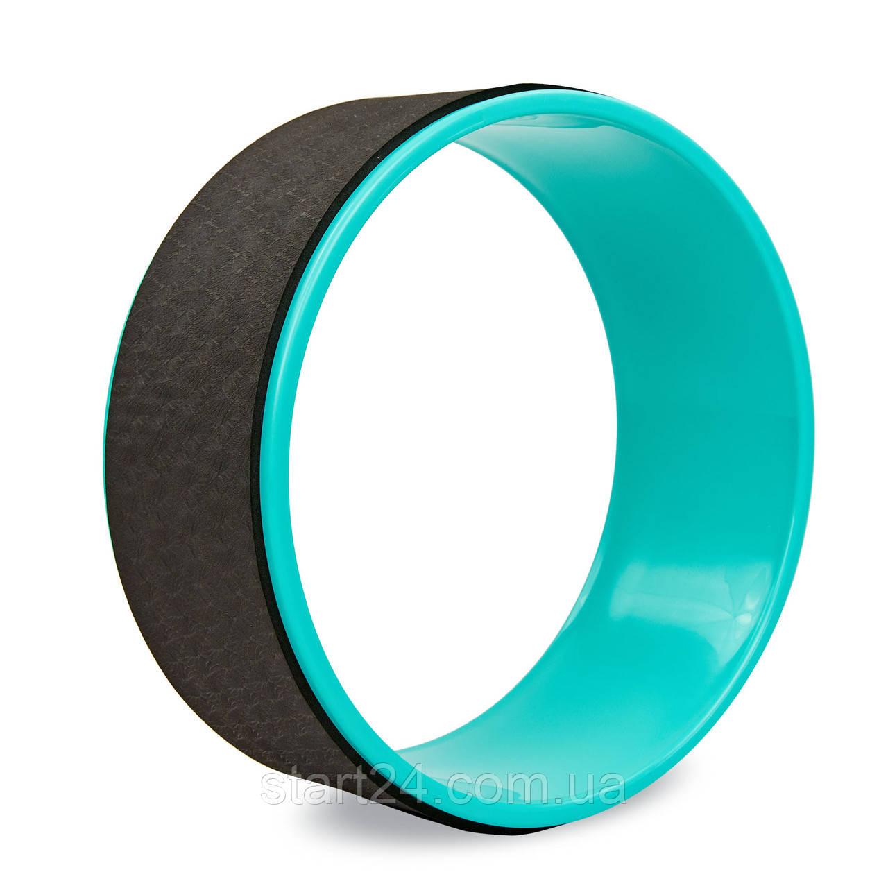 Колесо-кільце для йоги FI-8374 Fit Wheel Yoga (EVA, PP, р-р 33х13см, чорний-бірюзовий)