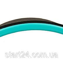 Колесо-кільце для йоги FI-8374 Fit Wheel Yoga (EVA, PP, р-р 33х13см, чорний-бірюзовий), фото 2