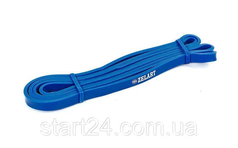 Гума для підтягувань (стрічка силова) FI-941-2 POWER BANDS (розмір 2000x13x4,5мм, жорсткість XXS, синій)