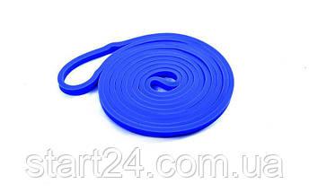 Гума для підтягувань (стрічка силова) FI-941-2 POWER BANDS (розмір 2000x13x4,5мм, жорсткість XXS, синій), фото 2