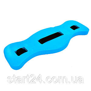 Пояс для аквааэробики PL-6887 (EVA, нейлон, р-р 71,5х20х4см, голубой)