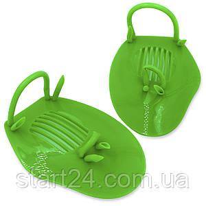 Лопатки для плавання гребні PL-6930 (пластик, резина, PVC чохол, сині, жовті, зелені)