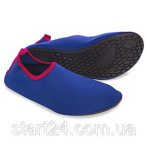 Обувь Skin Shoes для спорта и йоги PL-6962-BP размер M-37-38 длина стопы 23,5-24см синий-розовый