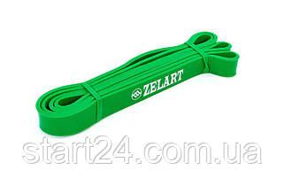 Резина для подтягиваний (лента силовая) FI-941-4 POWER BANDS (размер 2000x24x4,5мм, жесткость XS, зеленый)