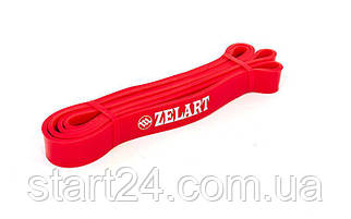 Резина для подтягиваний (лента силовая) FI-941-5 POWER BANDS (размер 2000x29x4,5мм, жесткость S, красный)