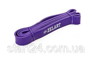 Резина для подтягиваний (лента силовая) FI-941-6 POWER BANDS (размер 2000x32x4,5мм, жесткость M, фиолетовый)