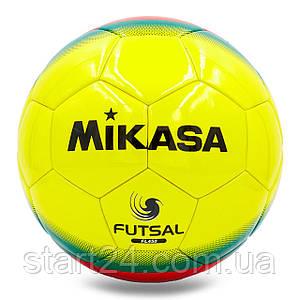 М'яч для футзалу №4 Клеєний-PU MIK FL-450 (жовтий-червоний-зелений)