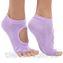 Носки для йоги с открытыми пальцами SP-Planeta FL-6872 (полиэстер, хлопок, р-р 36-41, цвета в ассортименте), фото 2