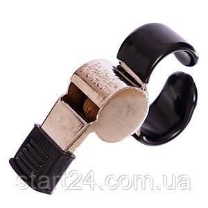 Свисток судейский металлический FOX40-9121-1418 SUPER FORCE CMG (110dB, с пальцедержателем, серебряный)