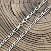 Серебряная цепочка родированная Фигаро ширина 3.5 мм  длина 50, фото 5