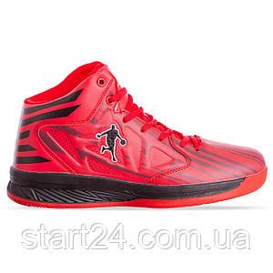 Кроссовки баскетбольные Jordan 8603-1 размер 41-45 красный-черный
