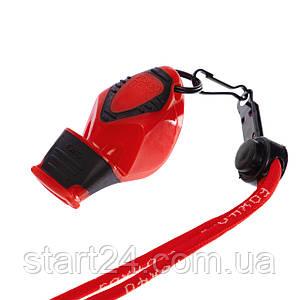 Свисток судейский пластиковый FOX40-EPIK CMG (115dB, на шнуре, цвета в ассортименте)