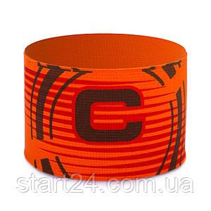 Повязка капитанская FB-115 (PL, эластан, безразмерная, цвет салатовый, оранжевый)