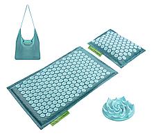 Коврик акупунктурный с подушкой 4FIZJO Eco Mat Аппликатор Кузнецова 68 x 42 см 4FJ0180 Turquoise