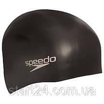 Шапочка для плавання SPEEDO PLAIN MOULDED 8709849097 (силікон, чорний), фото 2