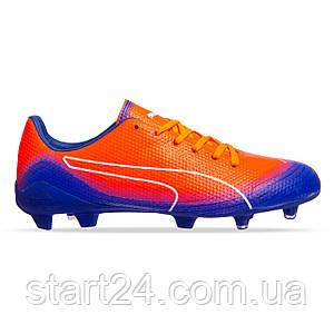 Бутсы футбольная обувь PM 873-6 размер 40-45 873-6 оранжевый-синий