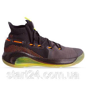 Кроссовки баскетбольные UAR 902G-2 размер 41-45 BLACK/ORANGE черный-салатовый