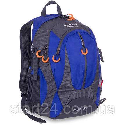 Рюкзак туристический с каркасной спинкой DTR 35 литров G25 (полиэстер, нейлон, алюминий, размер 45x30x18см,, фото 2