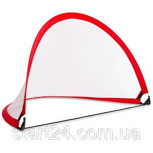Складные футбольные ворота для тренировок (1шт) PORAY PS-SN001M (пластик, сетка, PVC чехол, р-р 5ft