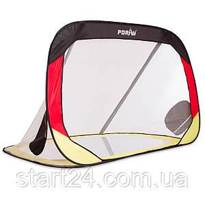 Складні футбольні ворота для тренувань (1шт) PORAY PS-SN008 (пластик, сітка, сталевий каркас, PVC чохол,