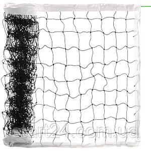 Сетка для волейбола PW-06 (PE 2,8мм, р-р 9,5x1м, ячейка 10x10см, с метал. тросом)