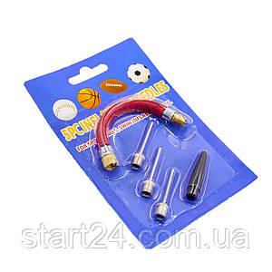 Набор для накачивания мячей FB-4584 (3 иглы, шланг, насадка для насоса)