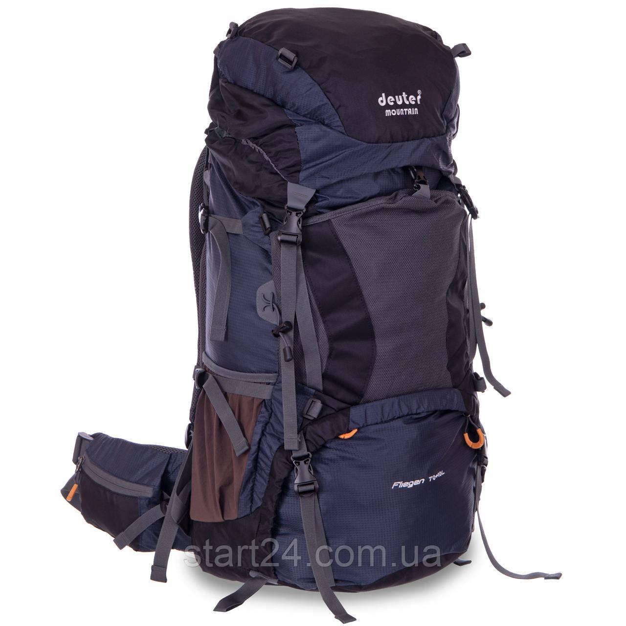 Рюкзак туристический с каркасной спинкой DTR 70+10 литров G70-10 (полиэстер, нейлон, алюминий, размер