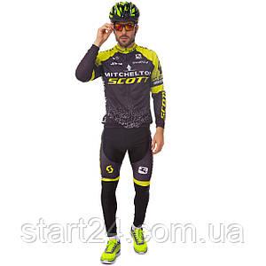 Велоформа длинный рукав SCOTT R-1 (р-р M-3XL-55-90кг-168-192см, черный-желтый)