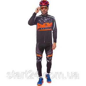 Велоформа длинный рукав NW R-122 (р-р M-3XL-55-90кг-168-192см, черный-оранжевый)