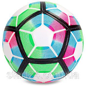 М'яч футбольний №5 PVC Клеєний PREMIER LEAGUE 2017 FB-5355-1 (№5, мультиколор)