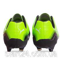 Бутсы футбольная обувь PM 968 размер 41-44 салатовый-черный, фото 2