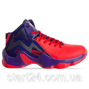 Кроссовки баскетбольные 9999-1 размер 41-45 красный-синий