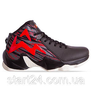 Кроссовки баскетбольные 9999-2 размер 41-45 черный-красный