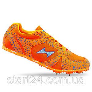 Шиповки бігові Health A599-1 розмір 35-45 помаранчевий