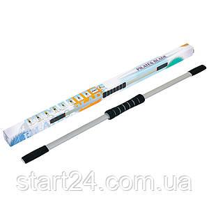 Гибкий стержень для пилатеса и йоги Pro Supra PILATES BLADE R-580 (пластик, неопрен, l-122см, серый)