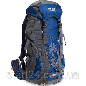 Рюкзак туристический с каркасной спинкой DTR 65 литров GA-G34 (полиэстер, нейлон, алюминий, размер 47x28x18см,