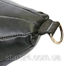 Груша набивна Кругла на розтяжках SPORTKO UR GK-2 (шкіра, нап.-древ.тирса, d-24см,l-50 см,вага-5 кг, кольори в, фото 3