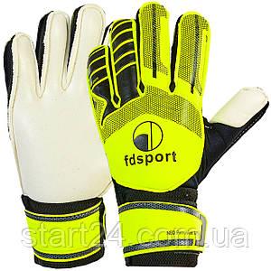 Перчатки вратарские юниорские с защитными вставками на пальцы FB-579  FDSPORT (р-р 7-8, цвета в ассортименте)