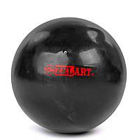 Мяч для пилатеса и йоги Zelart Pilates ball Mini GB-5219 PVC, d-20см, 400гр Черный (AN0765)