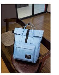 Рюкзак Rolltop(роллтоп) для ноутбука голубой.