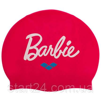 Шапочка для плавания детская ARENA BARRBIE FW11 AR-91672-91 (силикон, розовый), фото 2
