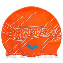 Шапочка для плавания детская ARENA HOT WHEELS FW11 AR-91674-50 (силикон, оранжевый), фото 2