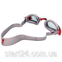 Очки для плавания детские ARENA MULTI JUNIOR 2 WORLD AR-92277-20 (поликарбонат, термопластичная резина,, фото 3