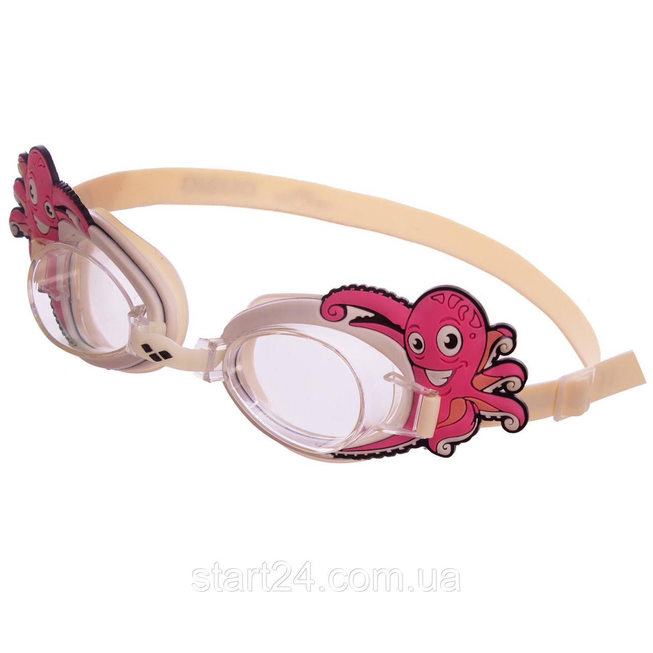 Очки для плавания детские ARENA BUBBLE WORLD AR-92339 (поликарбонат, термопластичная резина, силикон, цвета в