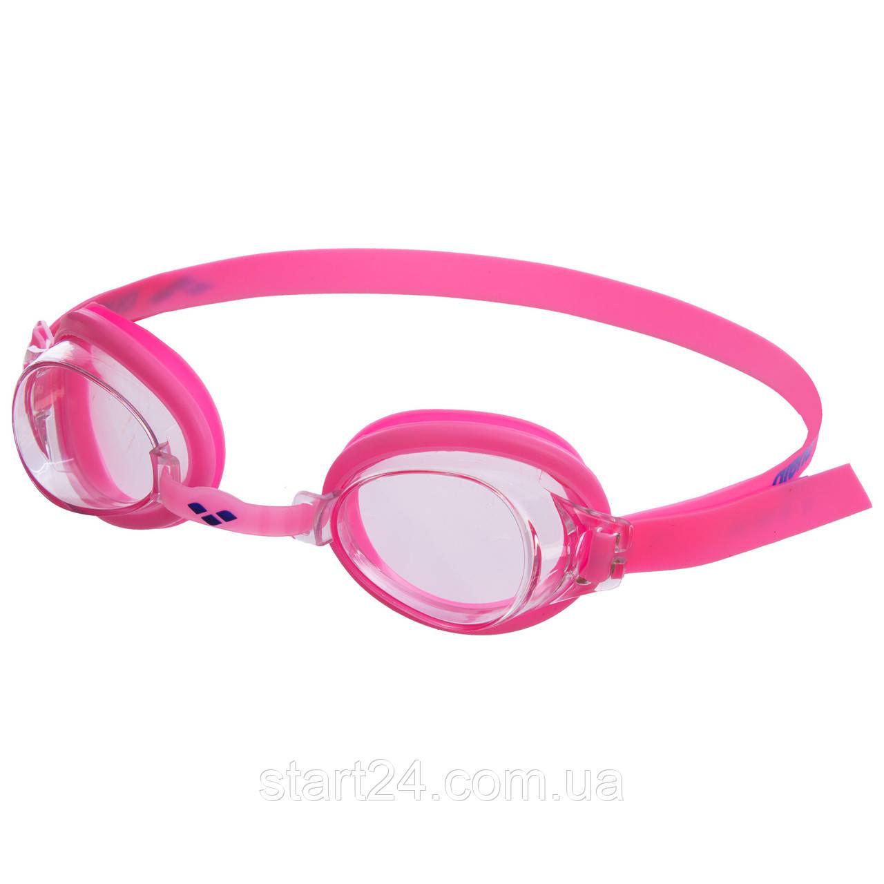 Очки для плавания детские ARENA BUBBLE 3 JUNIOR AR-92395 (поликарбонат, термопластичная резина, силикон, цвета