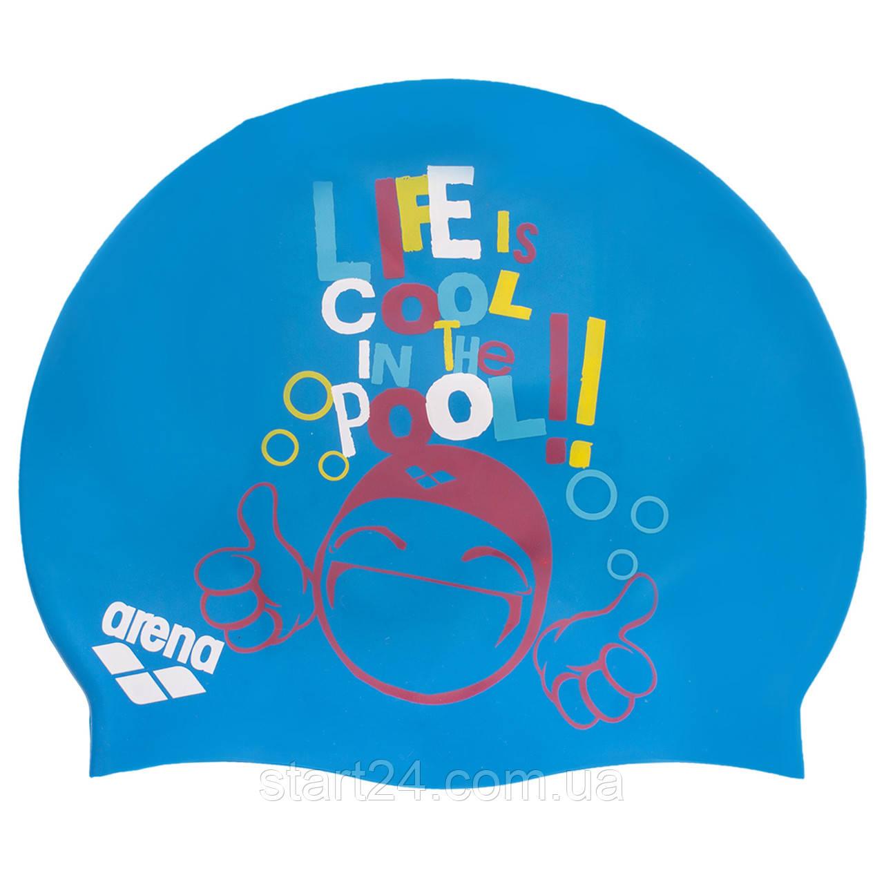 Шапочка для плавання дитячі ARENA PRINT JUNIOR AR-94171-20 (силікон, кольори в асортименті)